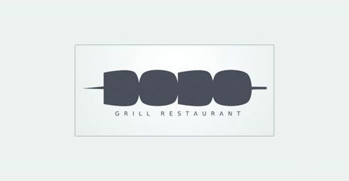 Simple logo for Dodo Grill Restaurant. I don't know if it's real or fake, but regardless the logo is great. It's creative, the choice of the rounded fat text is perfect to represent shish kabobs and the supporting text is spot-on.
