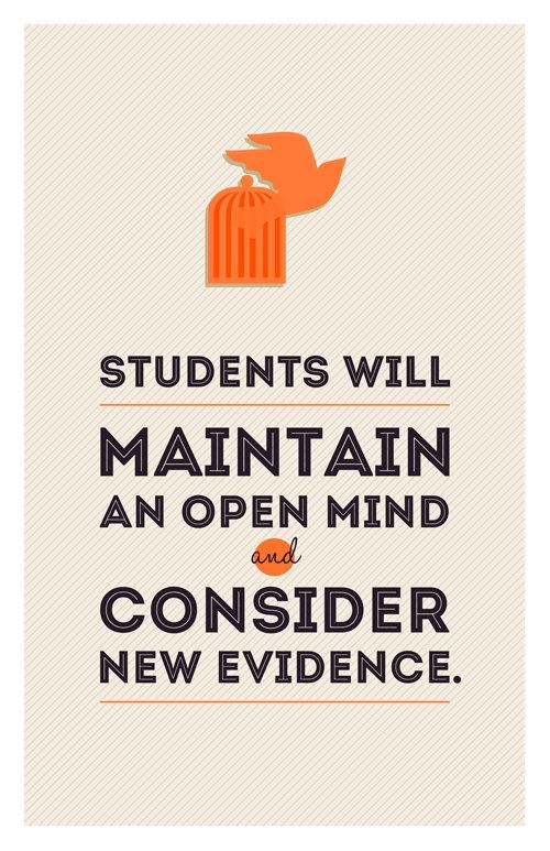 SCIENCE Classroom Poster - Open Mind & Consider New Evidence - Not just for Science!