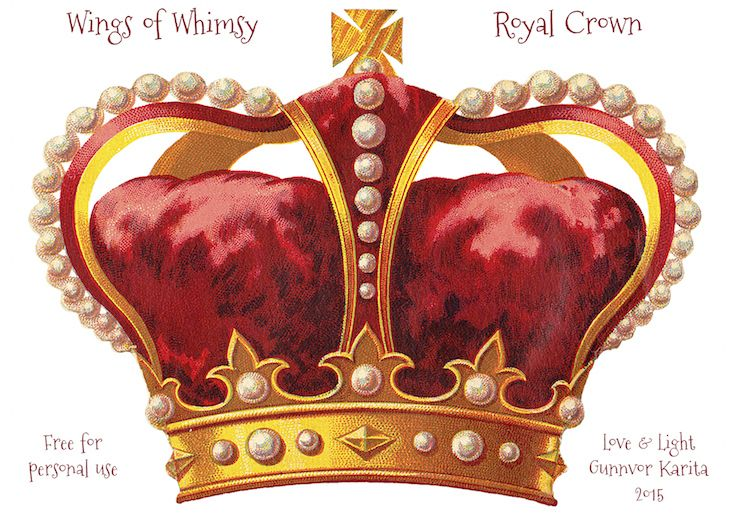 Wings of Whimsy: Royal Crown #vintage #ephemera #printable #freebie #royal #crown #tradecard