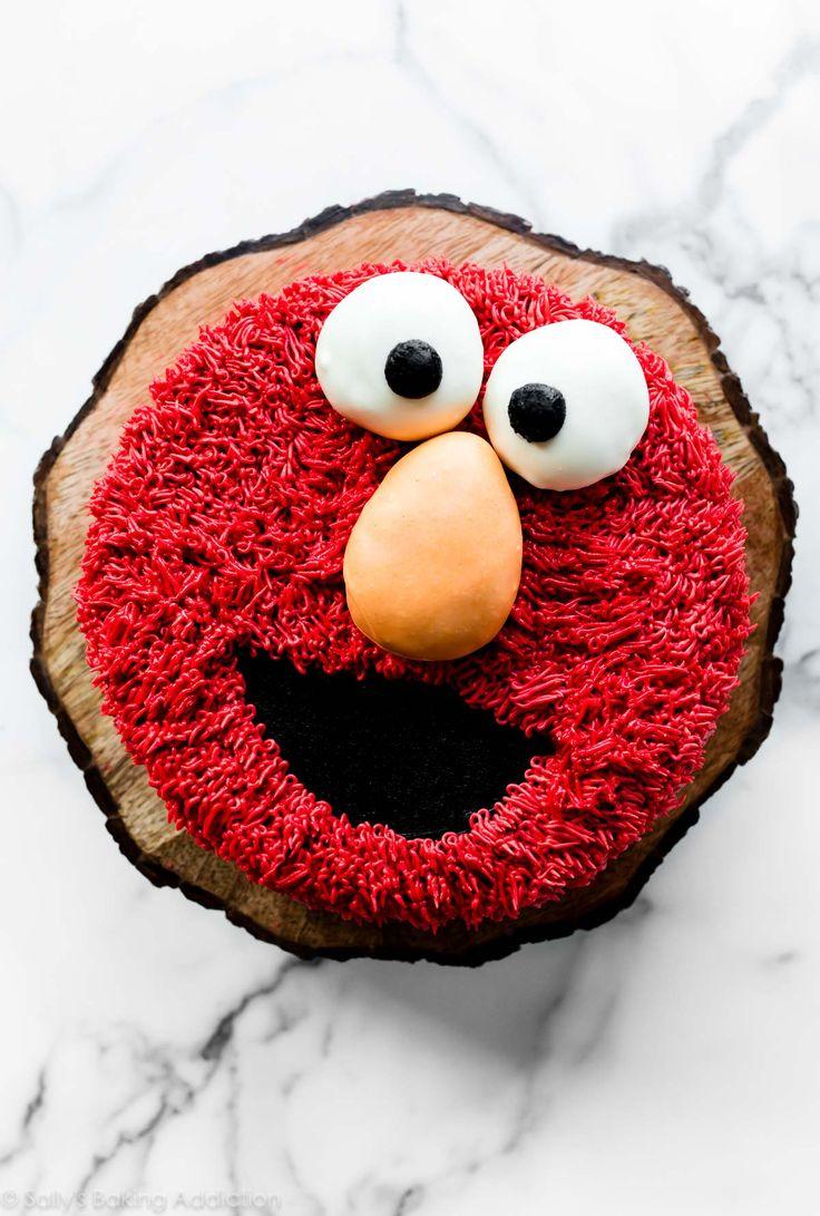 Lerne, wie du einen Elmo Cake dekorierst, den perfekten Sesamstraßen-Geburtstagskuchen! Ich l …   – Cake Recipes