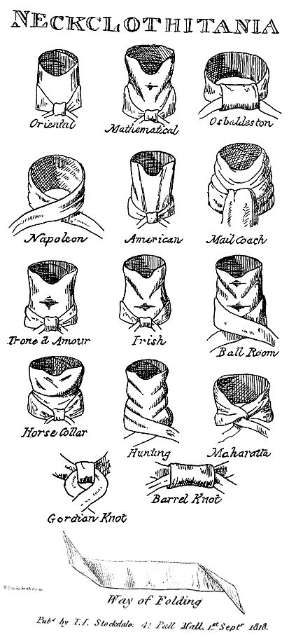 The Art of the Cravat: Popular cravat styles during the Regency.