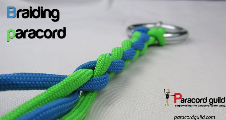 An easy way to braid paracord. A tutorial.
