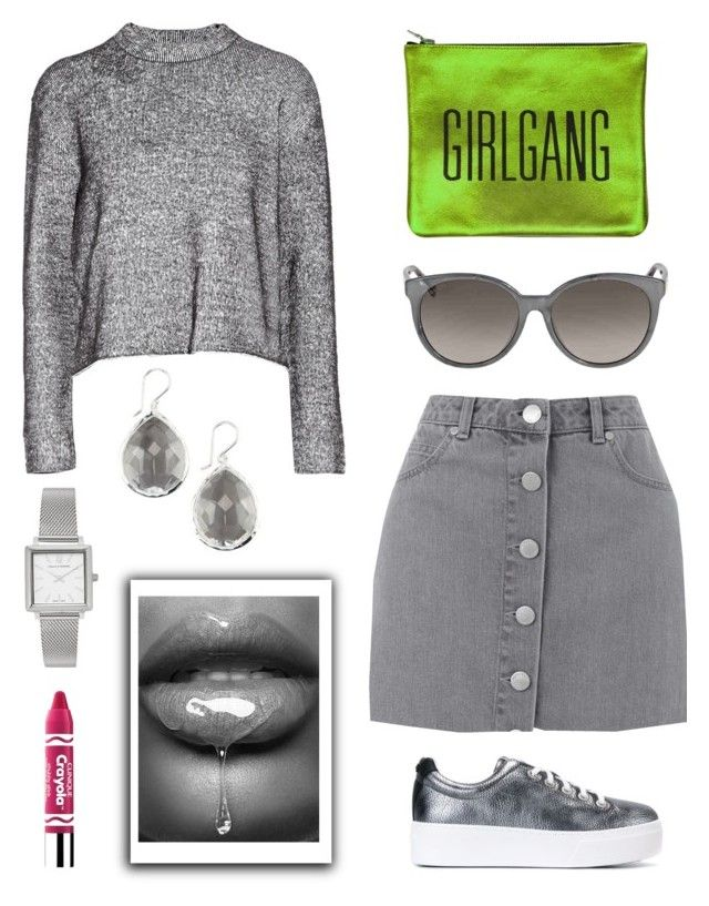 """Girl Gang!"" by schenonek ❤ liked on Polyvore featuring Kenzo, T By Alexander Wang, Miss Selfridge, Sarah Baily, Ippolita, Gucci, Larsson & Jennings and Clinique"