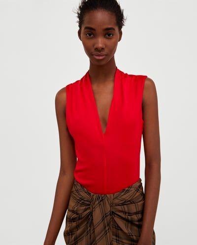Image 2 of V-NECK BODYSUIT from Zara