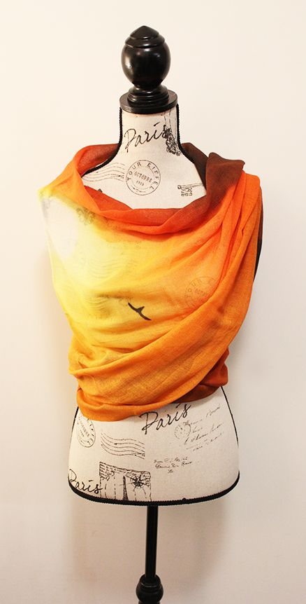 Sunset handwoven Scarf by CHOBHI