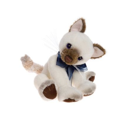 "Charlie Bears Collectable Glamour Puss 10"" Plush Bear"
