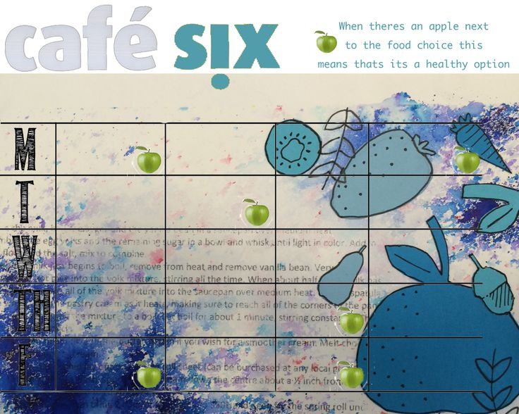 Cafe Six Menu 2