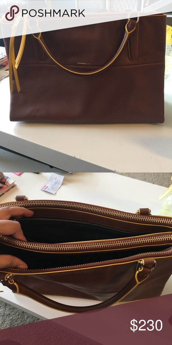 Coach Borough bag Tan Borough bag with strap included. Dust bag included as well. Great condition. Coach Bags Satchels