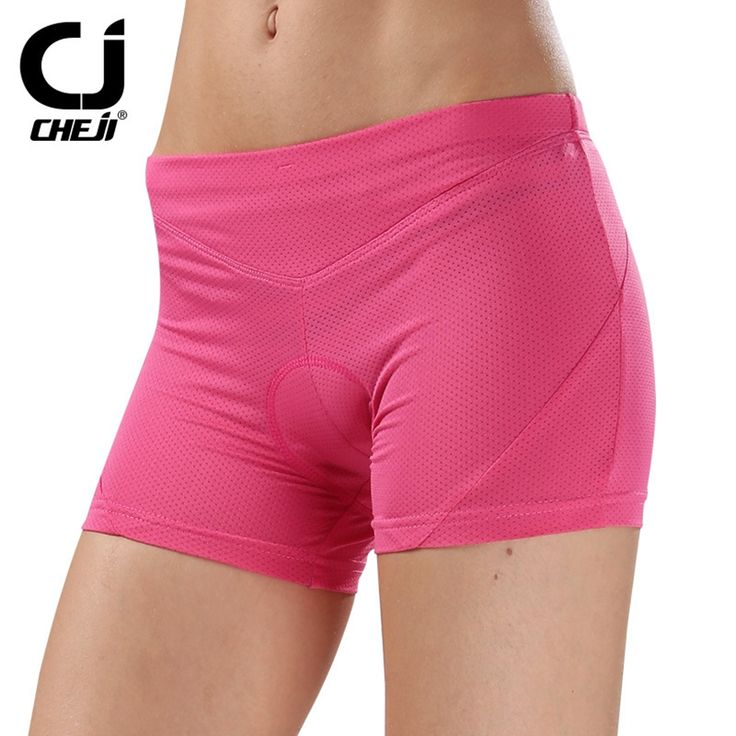 CHEJI Pink Women's Cycling Bicyle shorts Bike Underwear Padded Shorts Mountain Team Sports Bike Shorts With Pad for cyclists