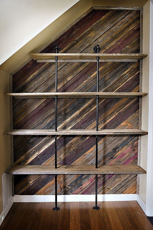Custom Alcove Treatment with Shelving