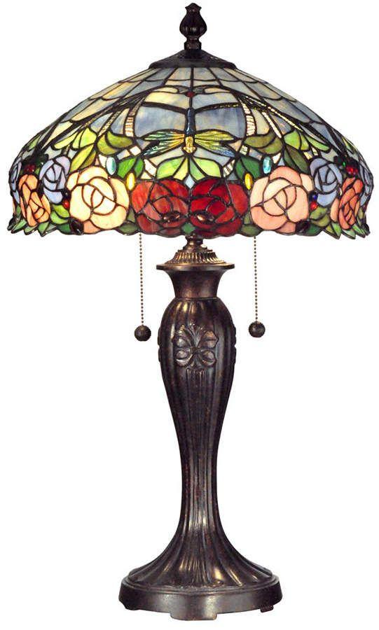Dale Tiffany Zenia Rose Table Lamp Vintazhnye Lampy Svetilniki Torshery