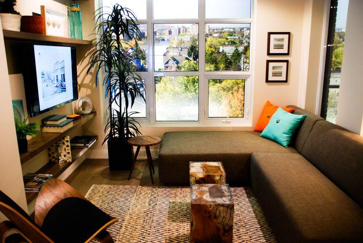 Tamarack Wellington Model Suite Living Room #condo #homedecor #inspiration