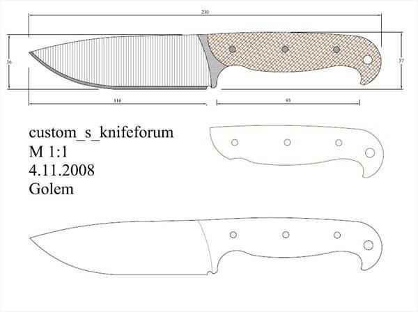 314 best Knives Patterns images on Pinterest | Knife making, Knife ...