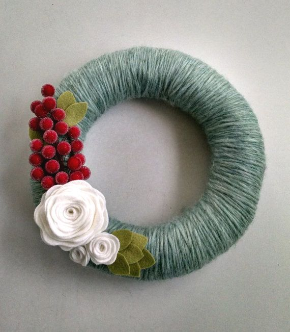 Hey, I found this really awesome Etsy listing at https://www.etsy.com/listing/209905478/christmas-yarn-wreath-christmas-wreath
