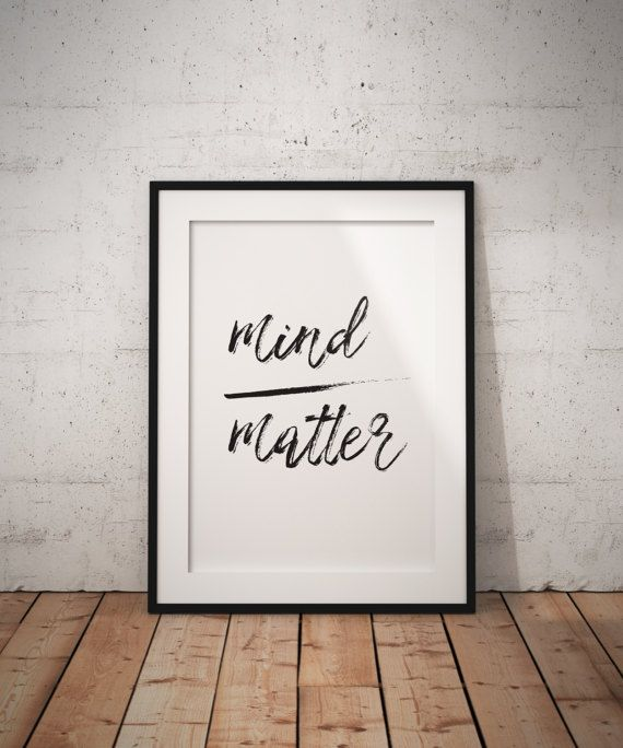 Mind Matter Office Decor Black and White by DownloadPrintable