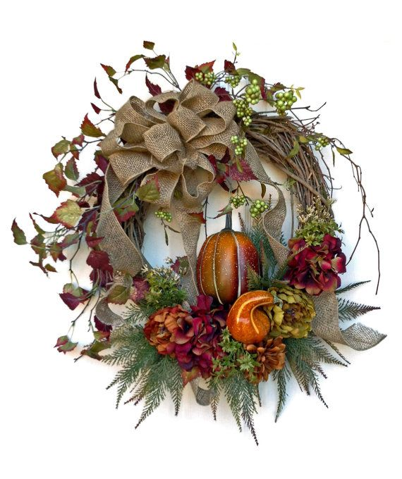 Harvest Fall Wreath for Door, Thanksgiving Wreath, Autumn Wreath, Wreath on Etsy, by Adorabella Wreaths!