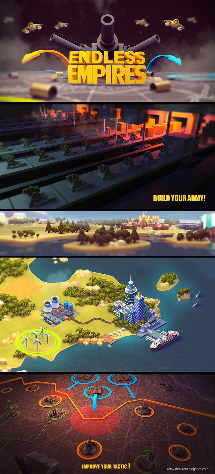 Visual development for mobile game on Behance