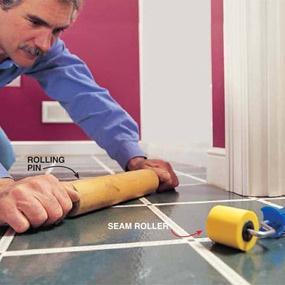 Laying vinyl floor - step by step