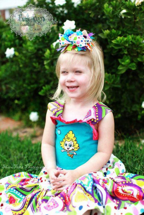 Bubble Guppies 'Deema' Twirl dress w/ BIG Boutique Bow