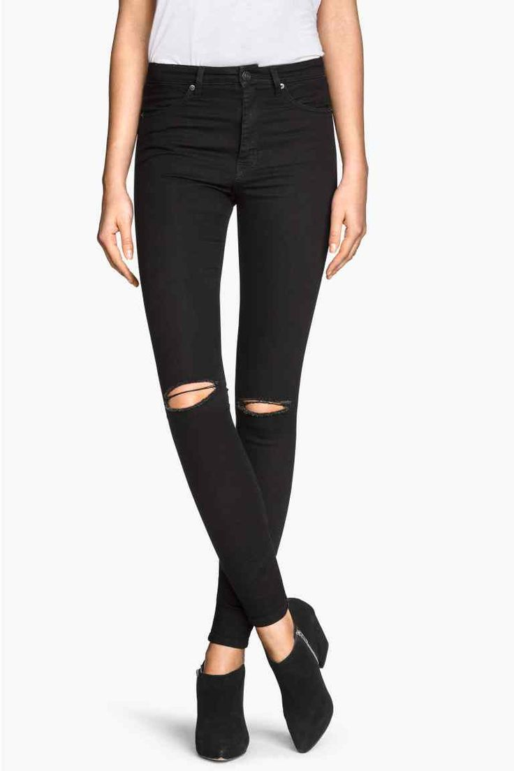 Dżinsy Skinny High Ripped | H&M