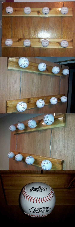 Other Accessories 181329: Baseball Cap Hat Rack Door Hanging With Cedar Base BUY IT NOW ONLY: $65.95