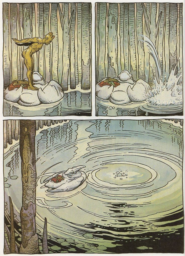 Page #4. Arzaq short story by Moebius and William Stout. 1996