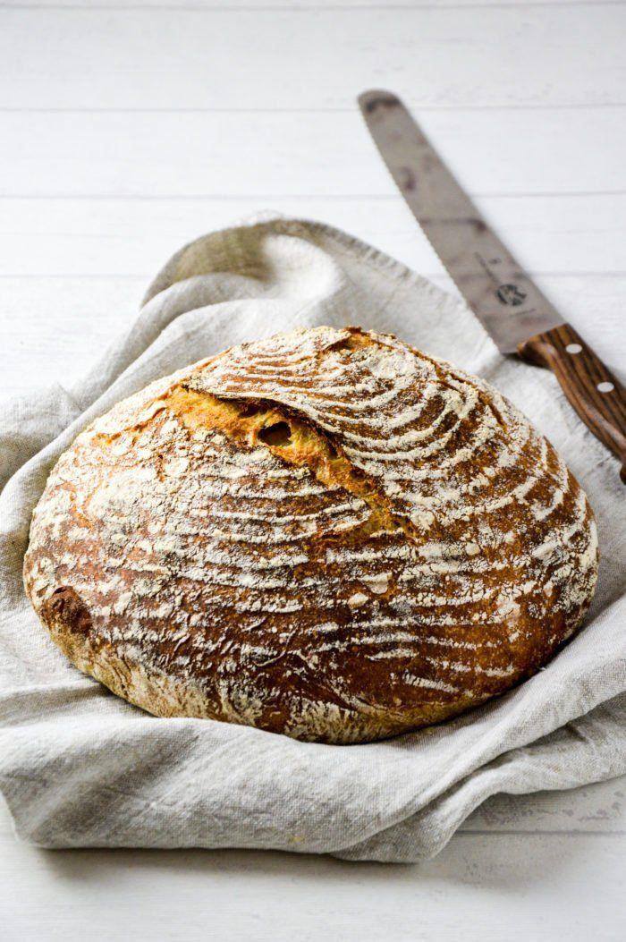 Reines Dinkel Sauerteigbrot Food Mit Bildern Sauerteigbrot Ohne Hefe Sauerteigbrot Brot Ohne Hefe
