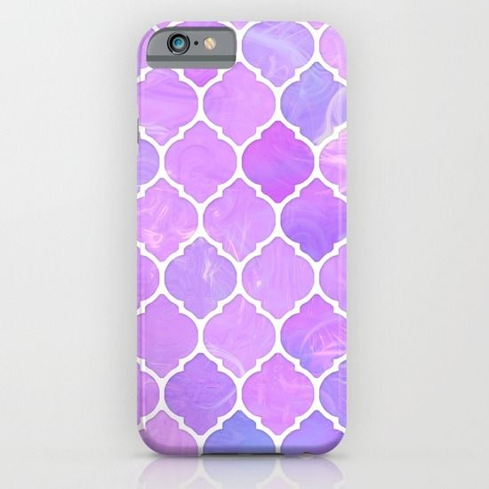 Pink and purple glass Moroccan print iPhone & iPod Case