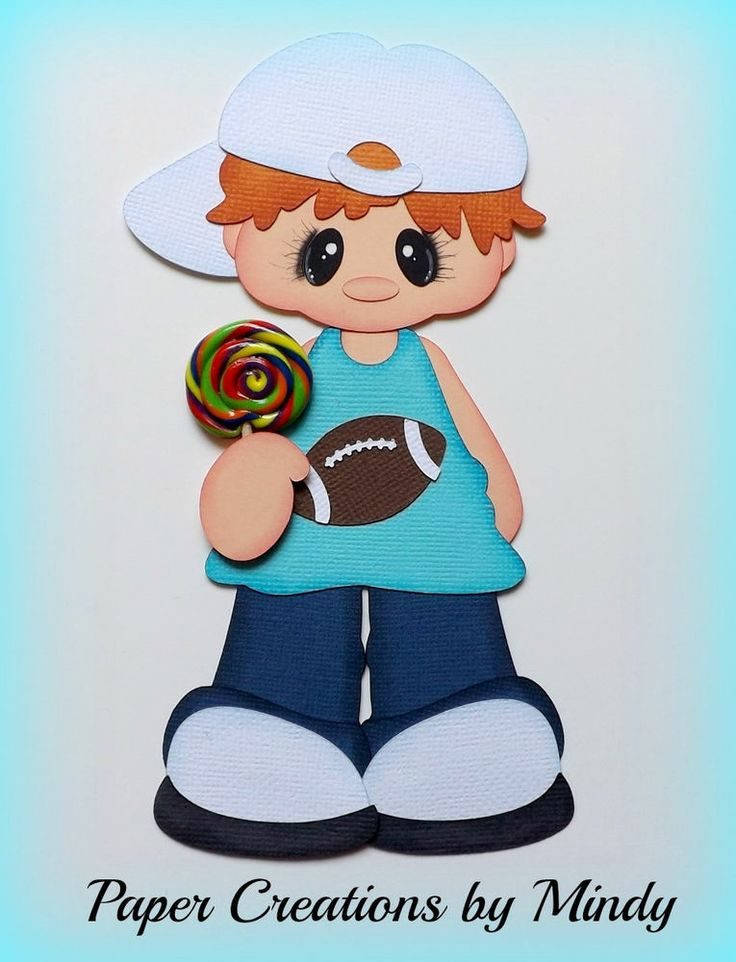 ELITE4U lollipop boy Kids summer premade paper piecing scrapbooking page g ~ Paper Creations by Mindy