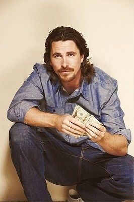 The ultimate 4 me. Long hair & facial hair on this gorgeous man. Christian Bale