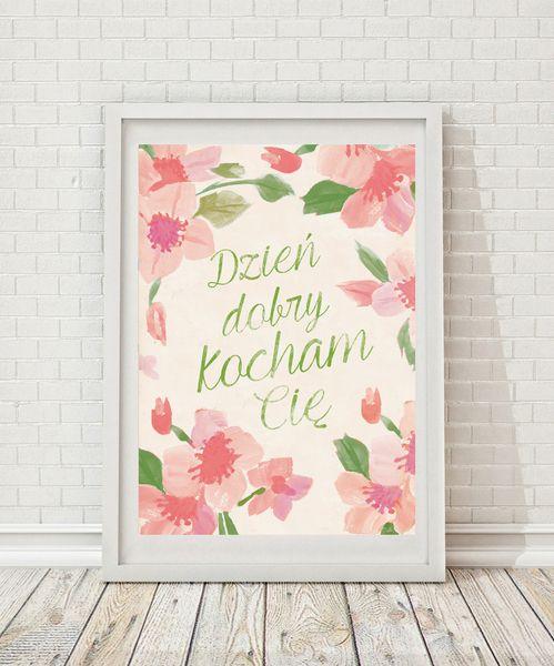 dzień dobry Kocham Cię! w miło mi na DaWanda.com