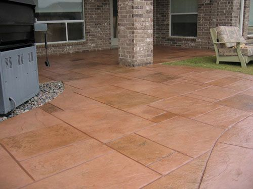 24 best stamped concrete ideas images on pinterest | backyard ... - Patio Stamped Concrete Ideas