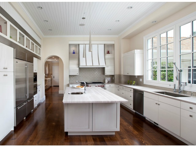 Very Modern Custom Kitchen White Custom Cabinets With Stainless Steel