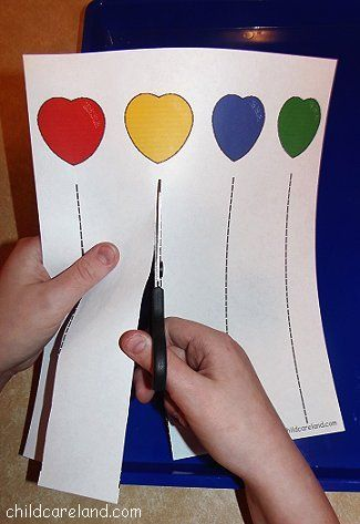Scissor skills free printable. Or just draw a line with a ruler and put a sticker where they are supposed to stop cutting.