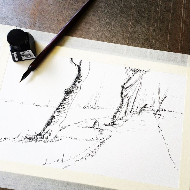 Pen & Ink the old fashioned way