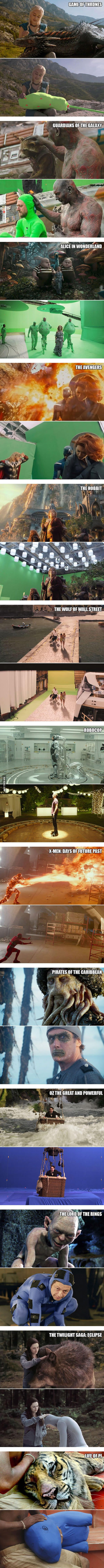 The wonders of CGI and special effects . Movies are art because they have to create artwork that can be seen as if it were real