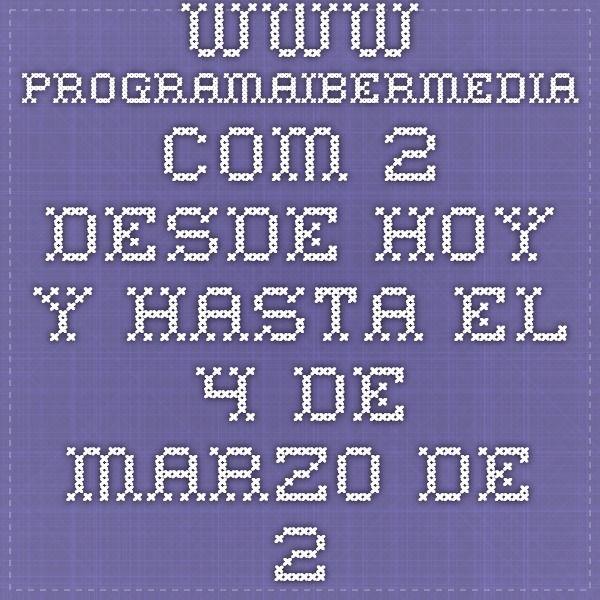 www.programaibermedia.com 2.Desde hoy y hasta el 4 de marzo de 2015 estará abierta la convocatoria para postular a las becas dirigidas a autores de América Latina, España y Portugal. Al Curso de Desarrollo de Proyectos Cinematográficos Iberoamericanos 2015 se pueden presentar proyectos de largometrajes de ficción, documental o animación.