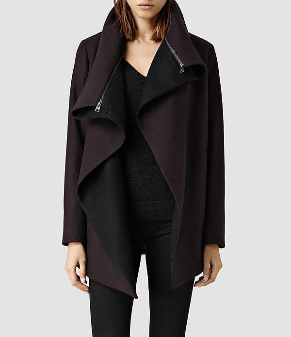 Womens Jax Jacket (Burgundy) - product_image_alt_text_1