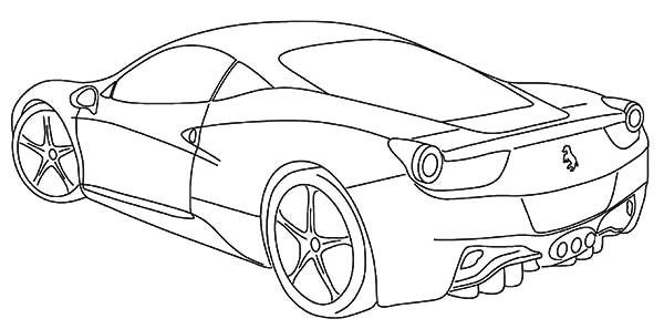 Ferrari Dibujo In 2020 Cars Coloring Pages Ferrari Italia Coloring Pages