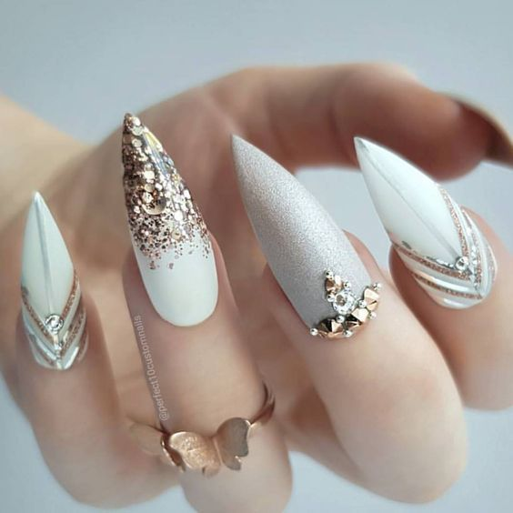 77 besten Stiletto Nail Art Designs 2019