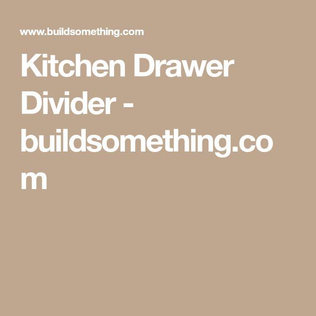 Kitchen Drawer Divider - buildsomething.com