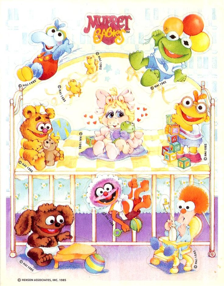 Muppet Babies stickers by Hallmark, 1985