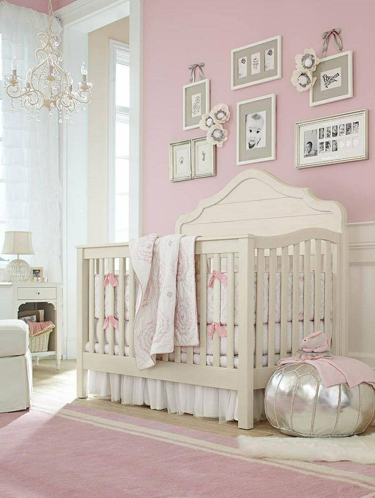 Pretty pink girls nursery baby pinterest pink walls for Baby room decoration girl