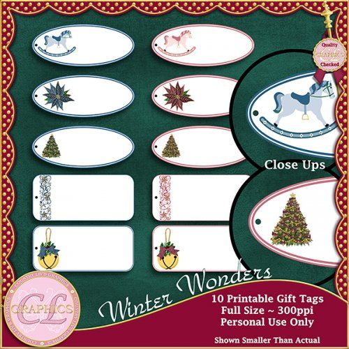 Country Liv's Graphics Winter Wonder Tags