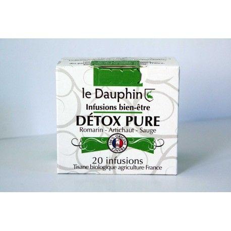 """Tisane bio """"Détox Pure"""" - Boite 20 infusettes - Le Dauphin"""