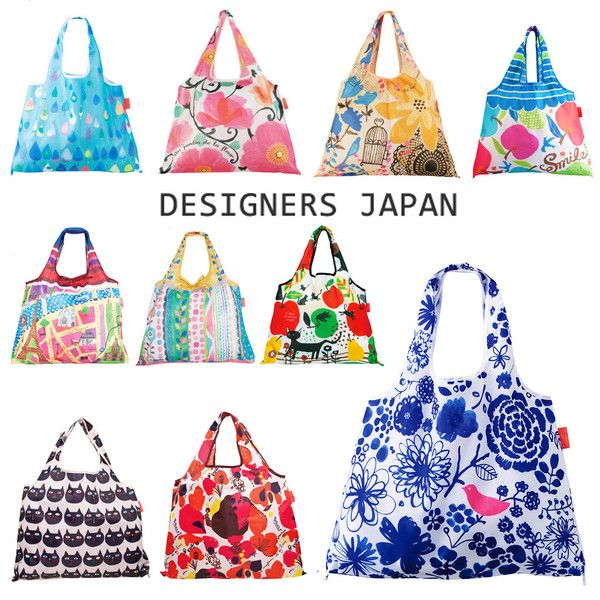 DESIGNERS JAPAN 購物袋 / FOLDABLE SHOPPING BAG – feltwithlove LIVING  16 different patterns are designed by Japanese designers. This shopping bag is tough and durable that can load 20kg, fold it up and easy to carry out.  #bag #designedinjapan