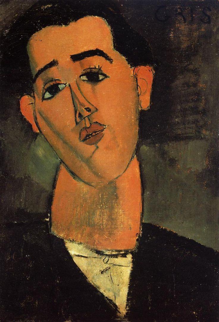 Portrait of Juan Gris by Amedeo Modigliani Medium: oil on canvas