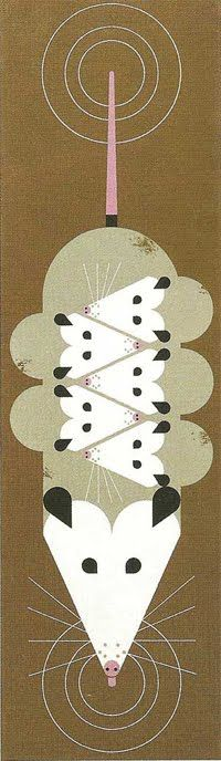 Possums by Charley Harper