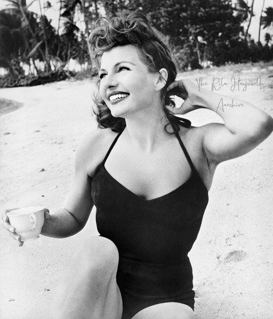 Rita Hayworth during the filming of Fire Down Below (1957)