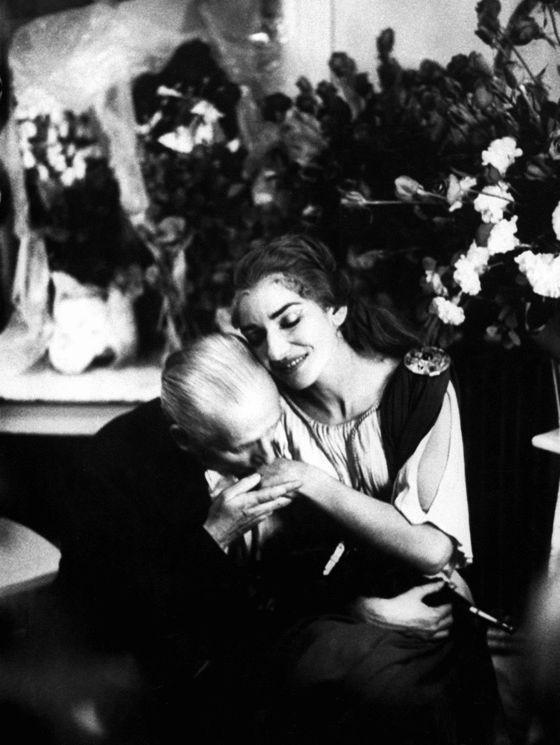 Quand les célébrités s'embrassent Giovanni B. Meneghini  Maria Callas